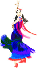"""woman dancer - quick """"vector"""" brushes sketch"""
