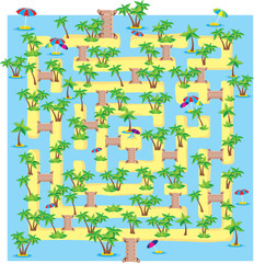 summer tropical labyrinth