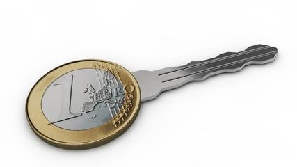 1 Euro Schlüssel