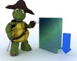 Pirate Tortoise depicting illegal downloads
