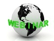 Green Webinar, abstraction of the inscription around the earth