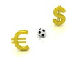 Euro against the dollar in football