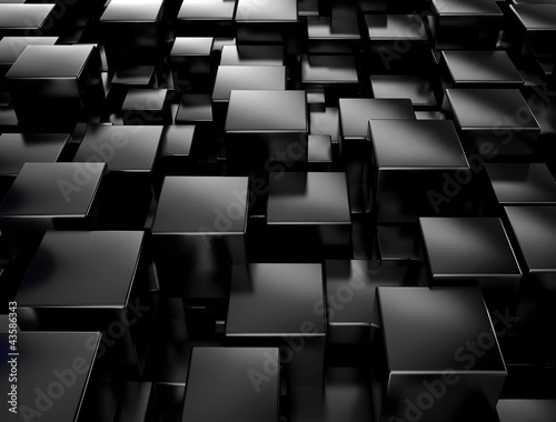 Black metallic 3d cubes background
