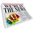 We're in the News Newspaper Headline Article