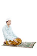 Humility muslim man in praying