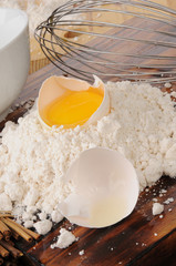 Egg yoke and baking mix