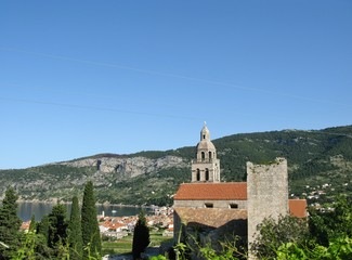 A monastery at the island Vis in Croatia
