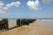 Breakwater on beach at Sheringham, North Norfolk
