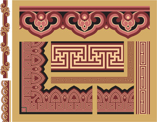 Set of Oriental Borders and Frames