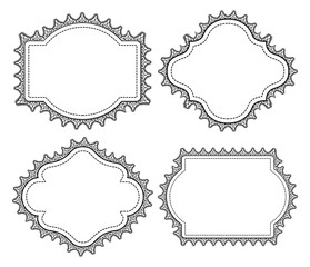 vintage frame with lace