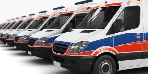 Rettungswagen Fuhrpark (Fokus)