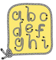 a to i alphabet