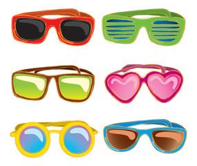 retro sunglasses doodle
