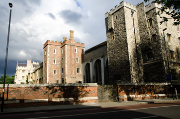 Historic part of London near Saint James Hospital