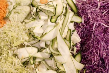 crudités légumes crus râpés