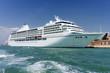 large white cruise ship