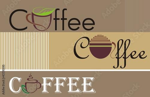 Fototapeta Coffee and tea symbols and icons for food design