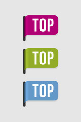 Modern  label – top