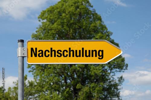 Pfeil mit Baum NACHSCHULUNG