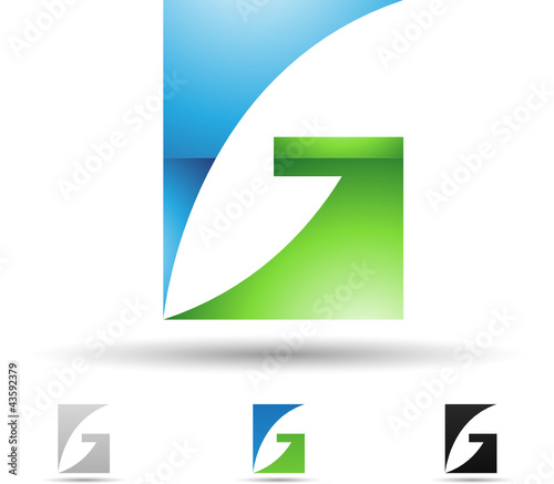 Vector illustration of abstract icons of letter G - Set 2