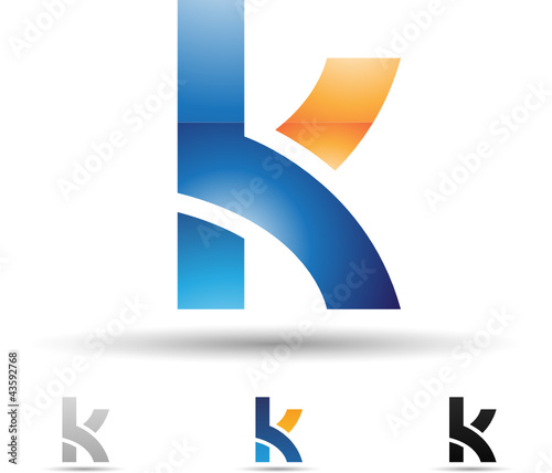 Vector illustration of abstract icons of letter K - Set 2