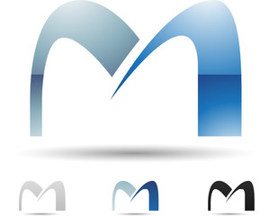 Vector illustration of abstract icons of letter M - Set 7