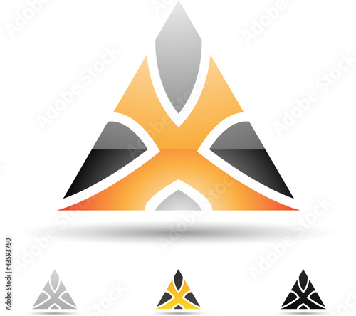 Vector illustration of abstract icons of letter X - Set 7