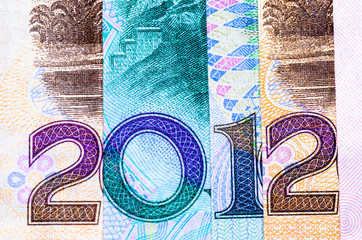 new year 2012 financial background