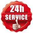 roter Button 24h Service