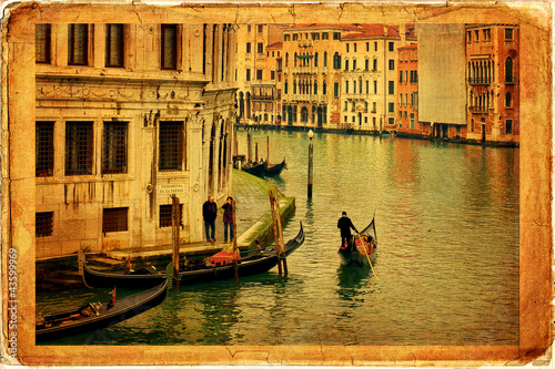 Venice - old paper - old card