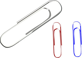 Illustration of paper clips