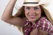 Cowgirl with beautiful smile
