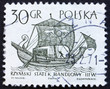 Postage stamp Poland 1963 3rd Century Merchantman, Ancient Ship