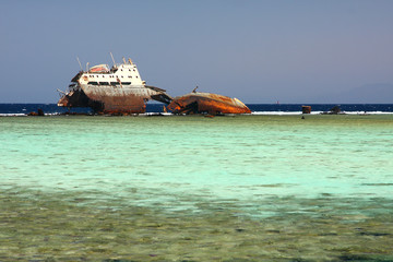Shipwreck in Red Sea