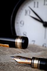 stilografica con orologio