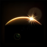 Fototapety Sunrise in space