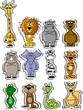 Набор животных мультфильм вектор