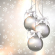 Christmas decorations on an abstract background