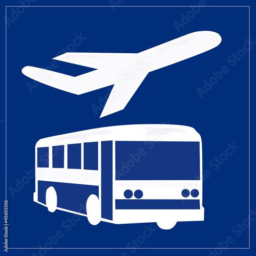 Schild - Flughafentransfer
