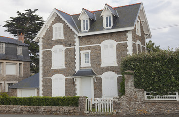 Traditional granite house in Brittany