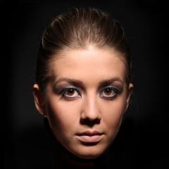 Beauty closeup portrait of beautiful sexy woman model