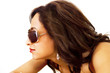 Sunglasses fashion woman in side profile