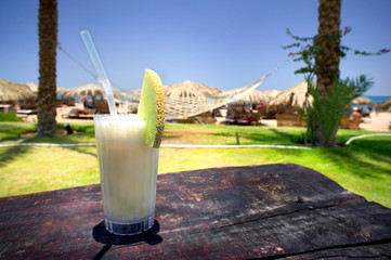 Pina Colada and sunny beach.