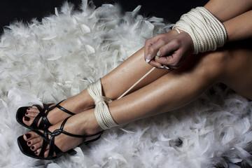 pieds et poings liés