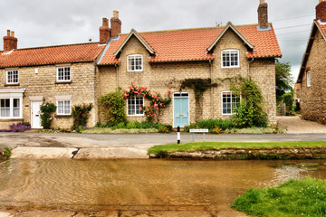 English village with ford.