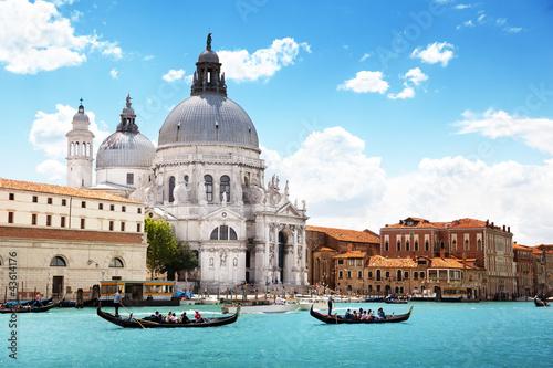 Kanał Grande i bazyliki Santa Maria della Salut, Wenecja, Włochy
