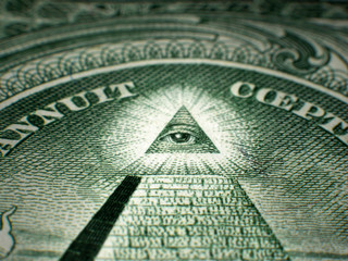 Masonic All Seeing Eye On One Dollar Bill