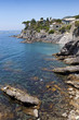 Sea coast viewscape near Bogliasco near Genova