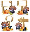 Thanksgiving turkey board