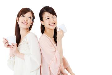 Beautiful young women. Portrait of asian.